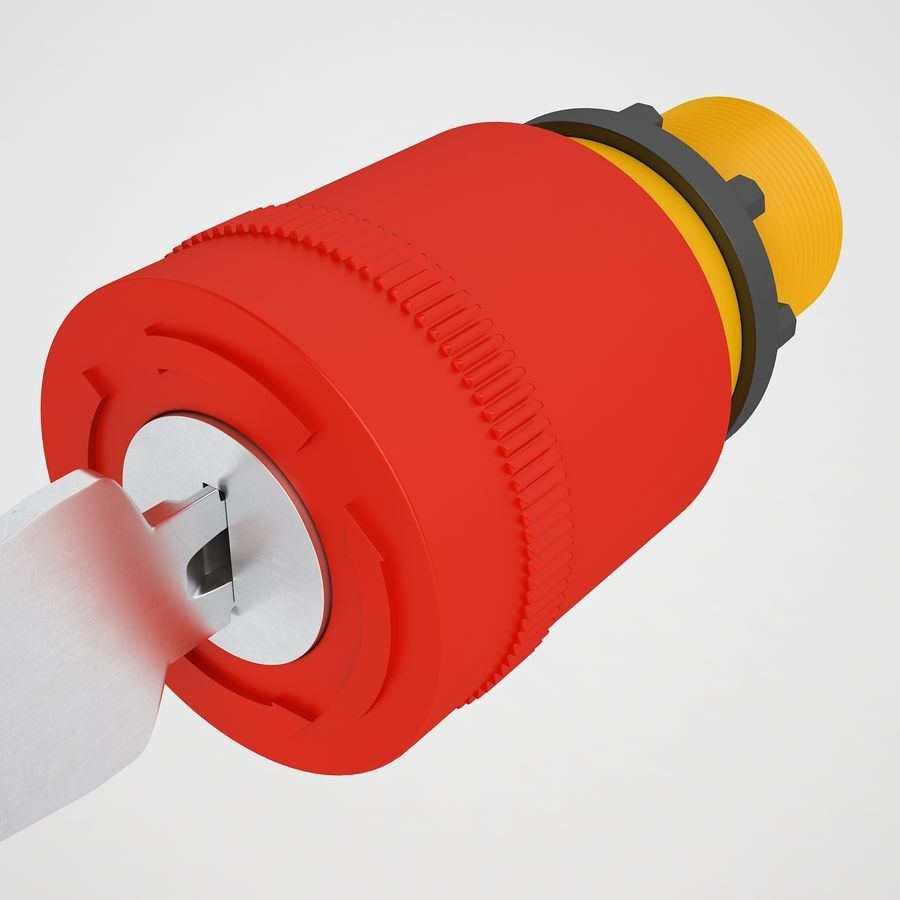 Emergency Stop Key Reset 01 royalty-free 3d model - Preview no. 7