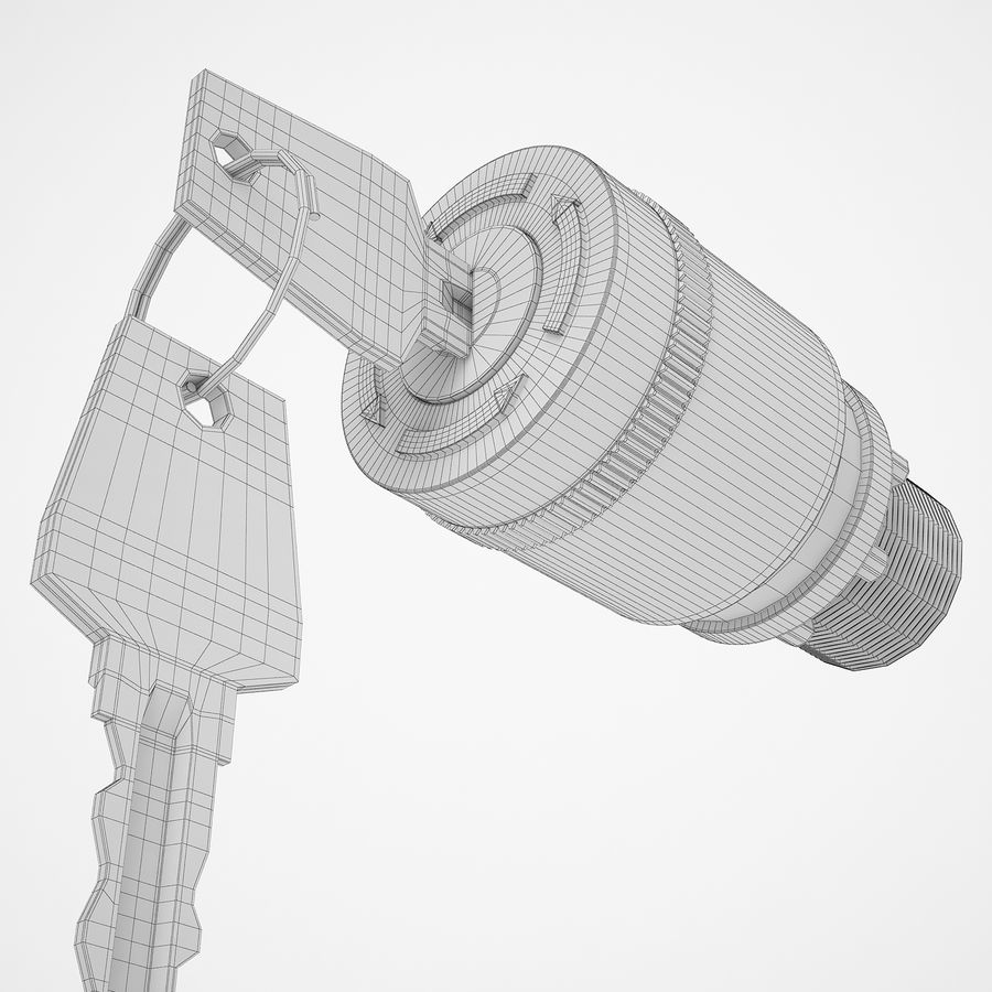 Emergency Stop Key Reset 02 royalty-free 3d model - Preview no. 24