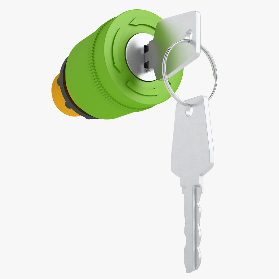 Emergency Stop Key Reset 02 royalty-free 3d model - Preview no. 1