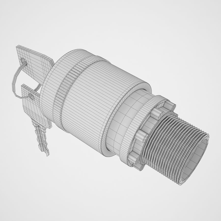 Emergency Stop Key Reset 02 royalty-free 3d model - Preview no. 22
