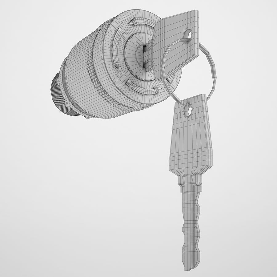 Emergency Stop Key Reset 02 royalty-free 3d model - Preview no. 4