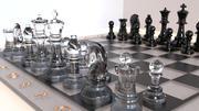 Szklane szachy 3d model
