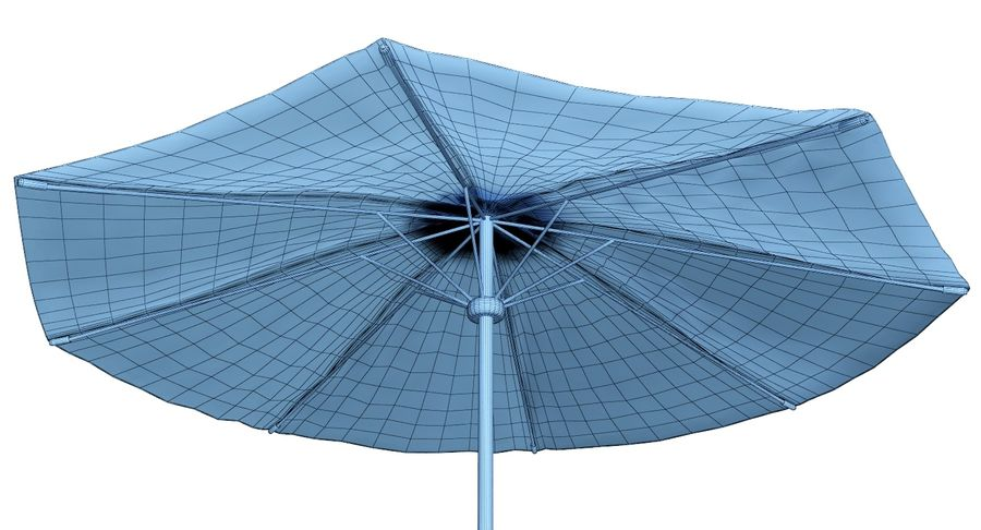 Lawrence Hill Market Umbrella royalty-free 3d model - Preview no. 5