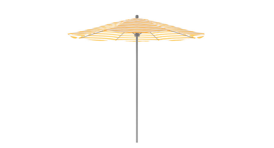 Lawrence Hill Market Umbrella royalty-free 3d model - Preview no. 2