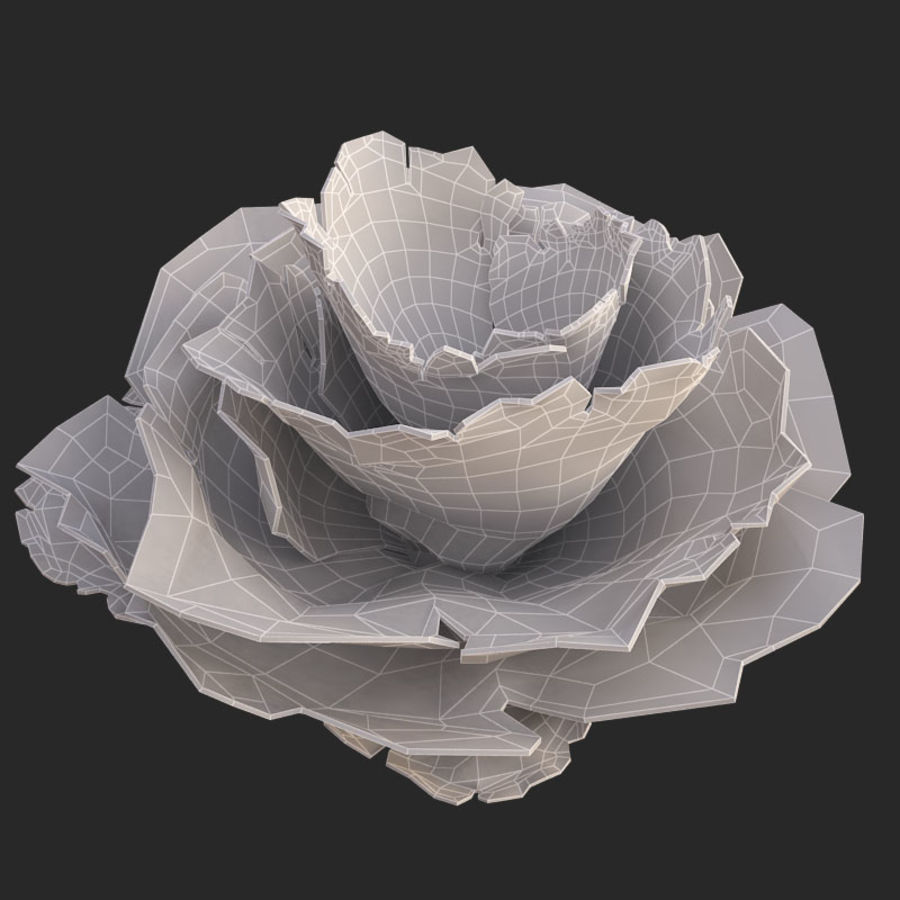coral scroll royalty-free 3d model - Preview no. 23
