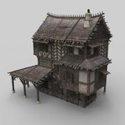 Fantazja średniowiecznego domu 13 3d model