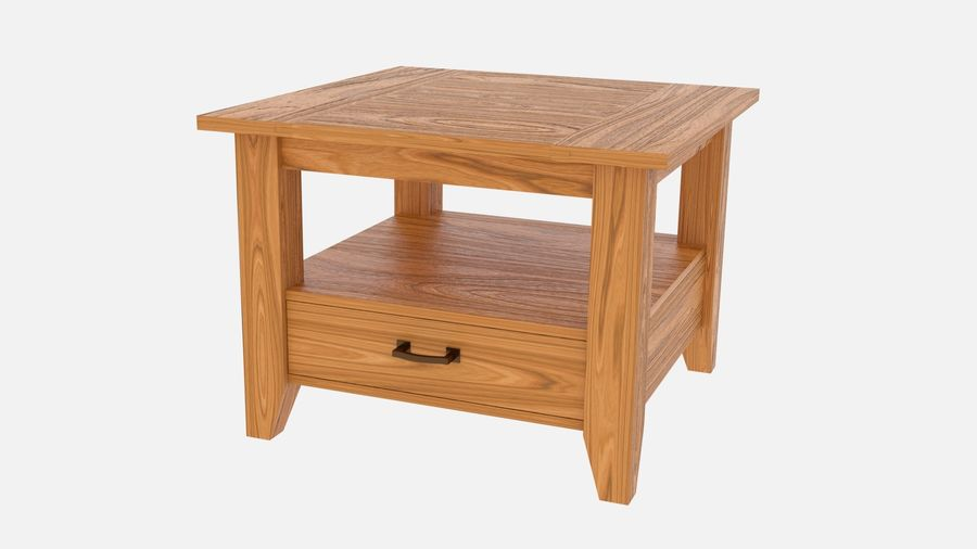 Modern houten nachtkastje royalty-free 3d model - Preview no. 1