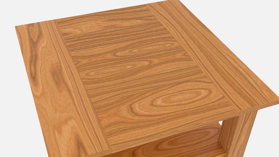 Modern houten nachtkastje royalty-free 3d model - Preview no. 4