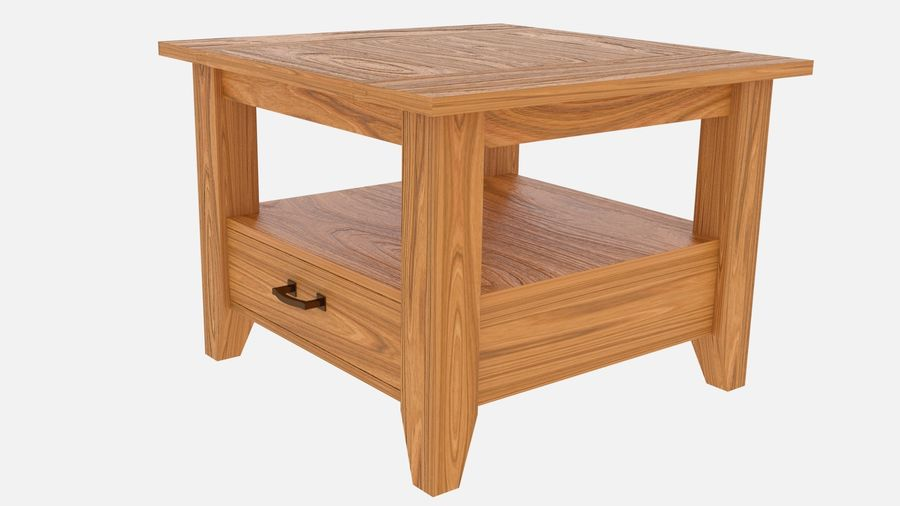 Modern houten nachtkastje royalty-free 3d model - Preview no. 2