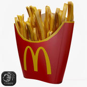 Pommes frites McDonalds 3d model