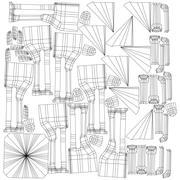 拱和柱构造函数 3d model