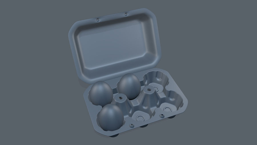 Egg Box royalty-free 3d model - Preview no. 9
