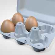 Яичная коробка 3d model