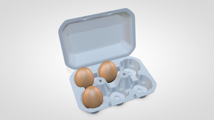 Egg Box royalty-free 3d model - Preview no. 8