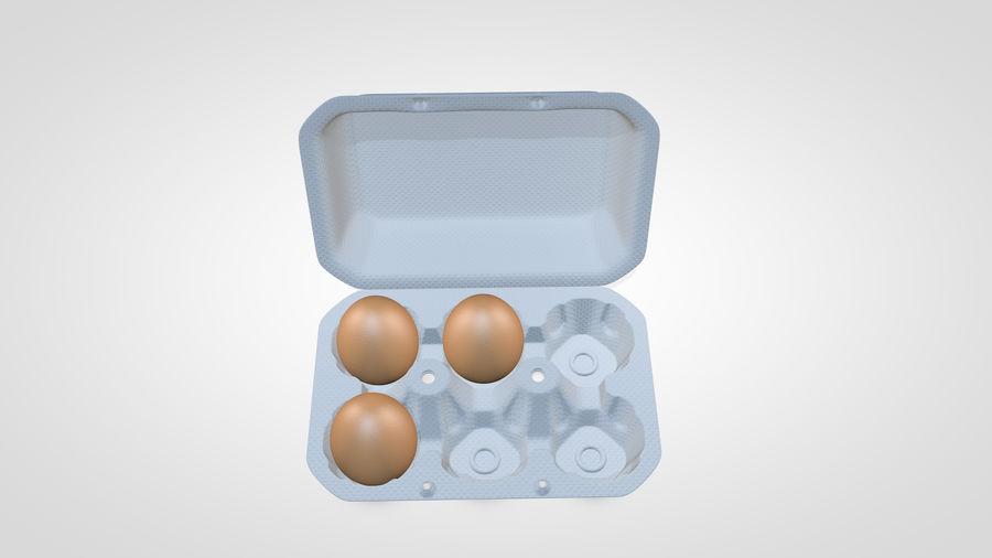 Egg Box royalty-free 3d model - Preview no. 11