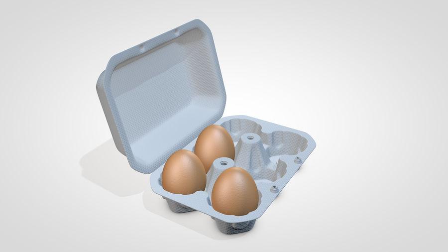 Egg Box royalty-free 3d model - Preview no. 3
