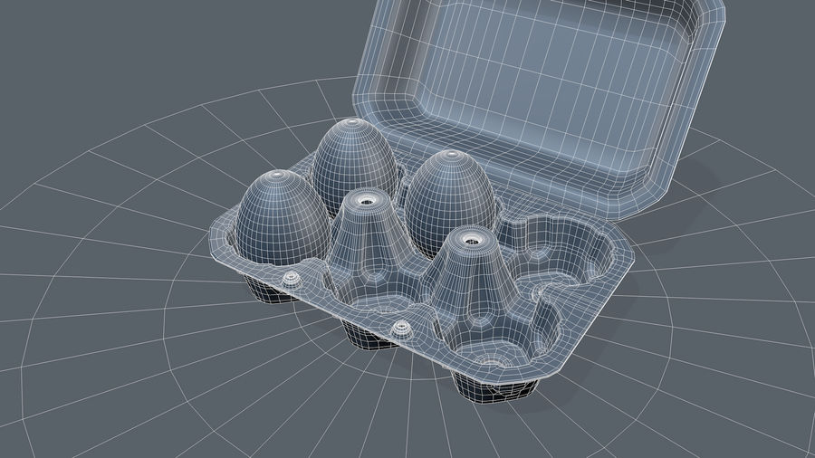 Egg Box royalty-free 3d model - Preview no. 15