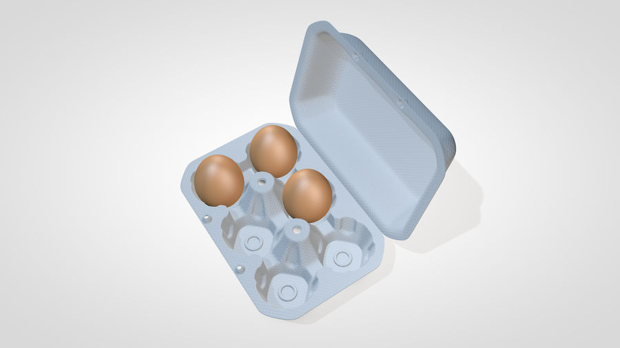 Egg Box royalty-free 3d model - Preview no. 12