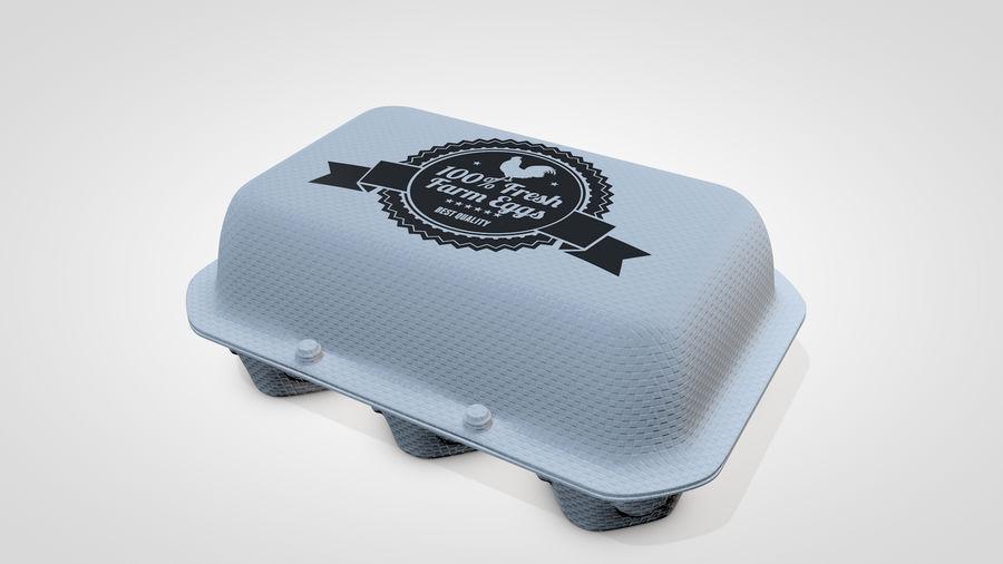 Egg Box royalty-free 3d model - Preview no. 2