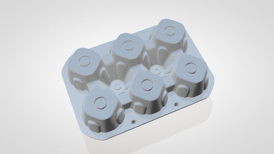 Egg Box royalty-free 3d model - Preview no. 5
