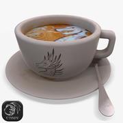 Tasse de latte 3d model