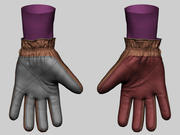 Army Gloves 3d model
