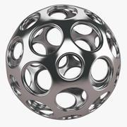 Structure en boule d'argent 3d model