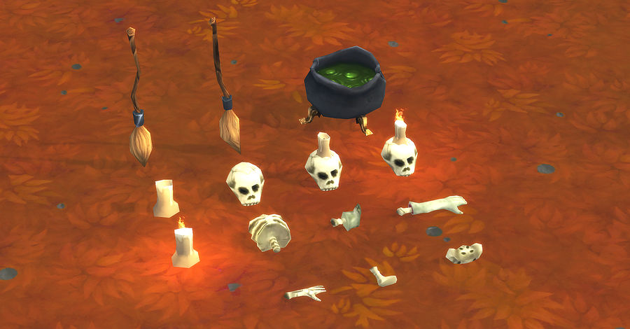 Halloween Lowpoly Props/Decorations Pack royalty-free 3d model - Preview no. 3