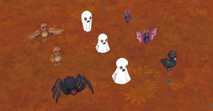 Halloween Lowpoly Props/Decorations Pack royalty-free 3d model - Preview no. 9