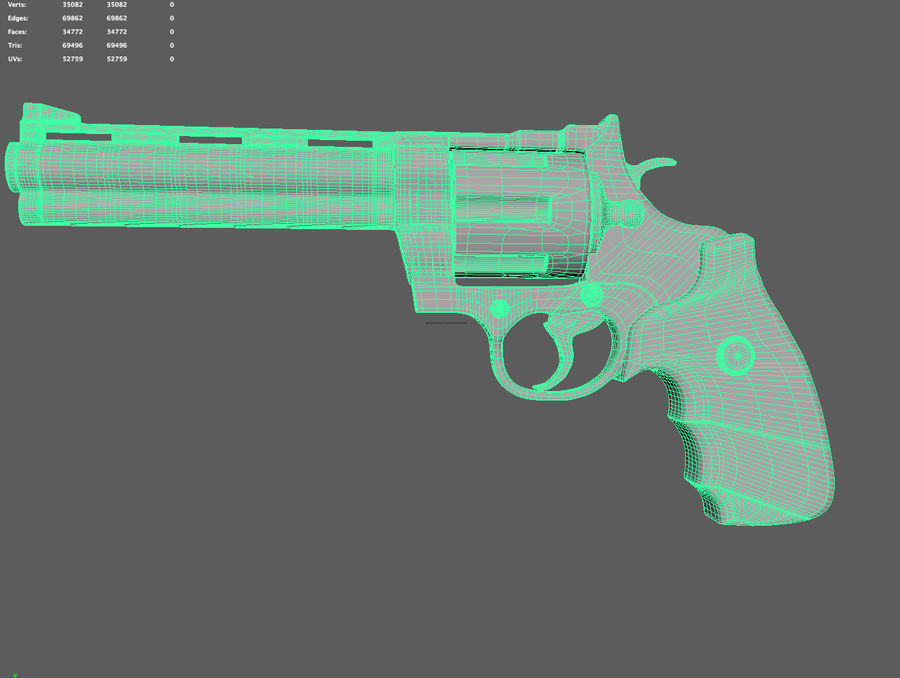 revolver royalty-free 3d model - Preview no. 4
