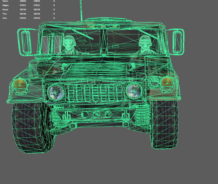Military Vehicle royalty-free 3d model - Preview no. 9
