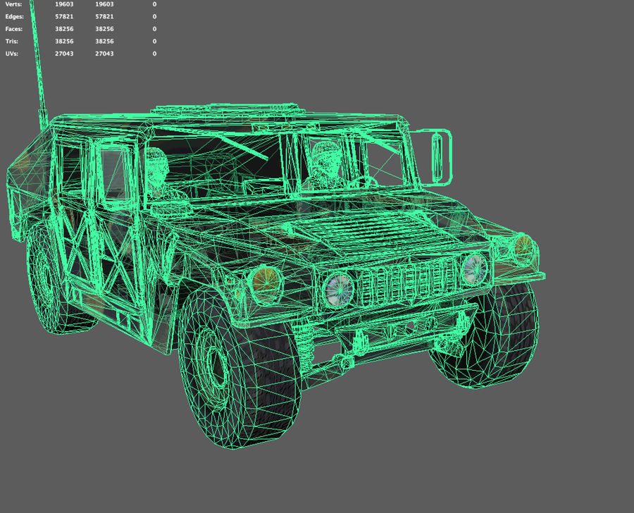 Military Vehicle royalty-free 3d model - Preview no. 7