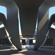 Concrete Soviet Monument 3d model