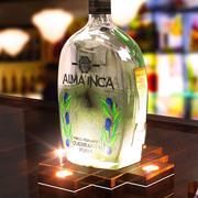 upplyst bas för flaska 3d model