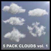 3D Clouds - 5 PACK v1 - VDB 3d model