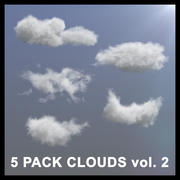 3D Clouds - 5 PACK v2 - VDB 3d model