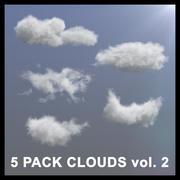 Nuages 3D - 5 PACK v2 - VDB 3d model