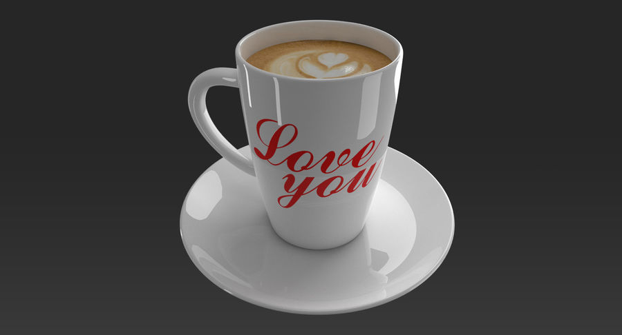 Coffee Cup royalty-free 3d model - Preview no. 3