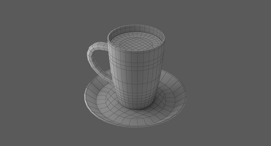 Coffee Cup royalty-free 3d model - Preview no. 9
