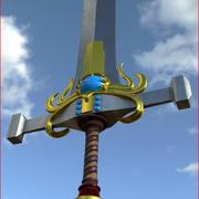 Roi épée 3d model