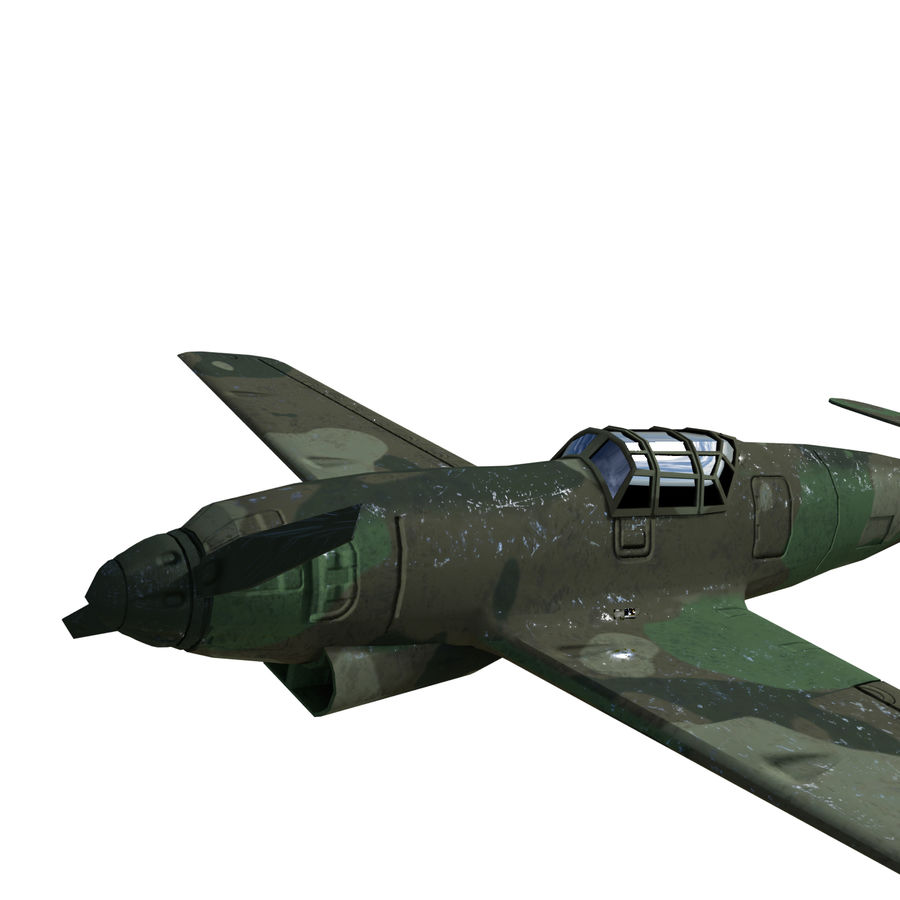 WW2 Fighter Aircraft royalty-free 3d model - Preview no. 6
