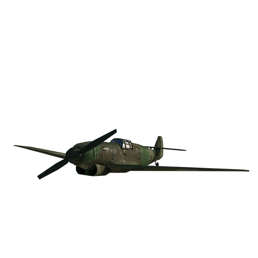WW2 Fighter Aircraft royalty-free 3d model - Preview no. 1