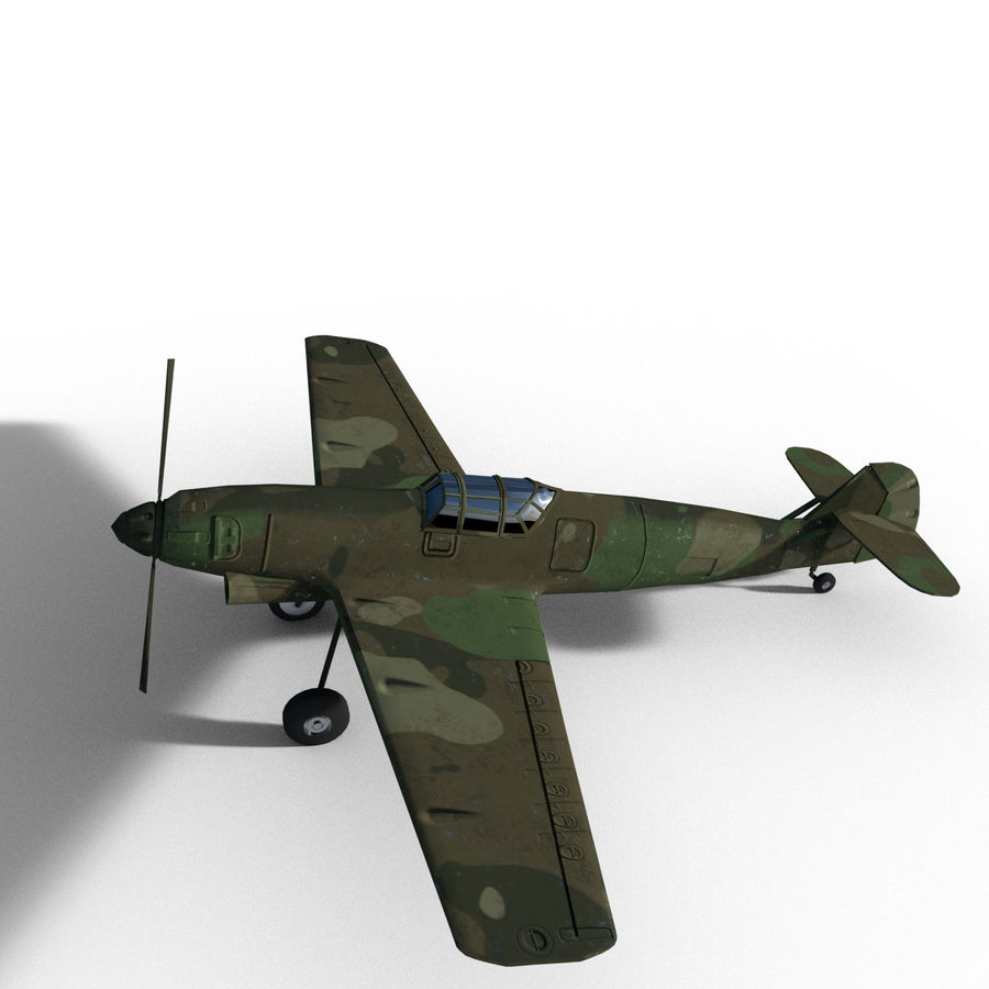 WW2 Fighter Aircraft royalty-free 3d model - Preview no. 9