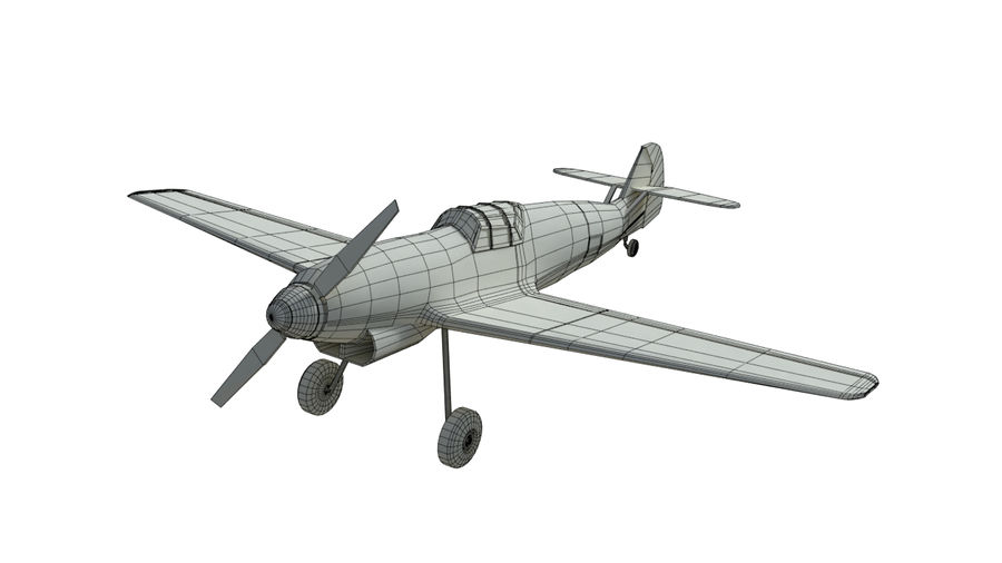 WW2 Fighter Aircraft royalty-free 3d model - Preview no. 8
