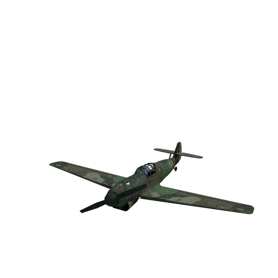 WW2 Fighter Aircraft royalty-free 3d model - Preview no. 7