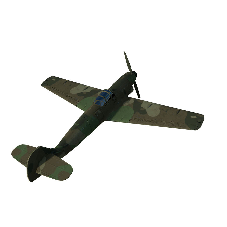 WW2 Fighter Aircraft royalty-free 3d model - Preview no. 2