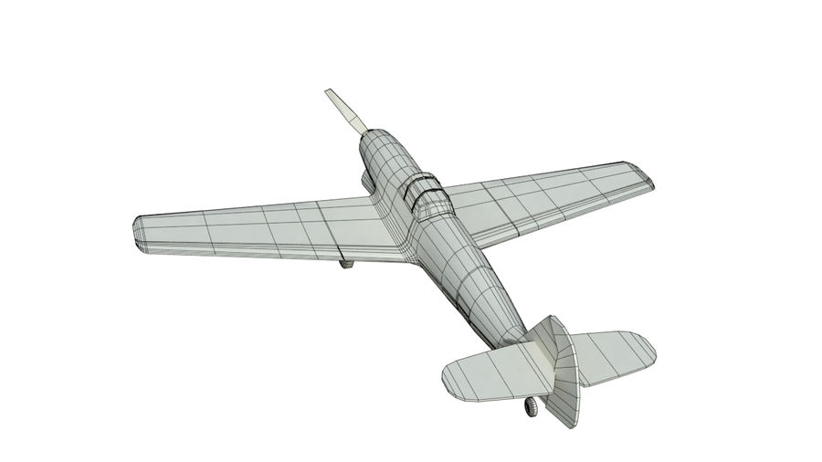 WW2 Fighter Aircraft royalty-free 3d model - Preview no. 10