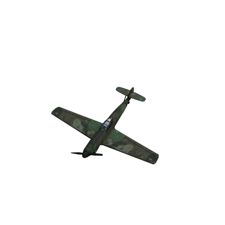 WW2 Fighter Aircraft royalty-free 3d model - Preview no. 4