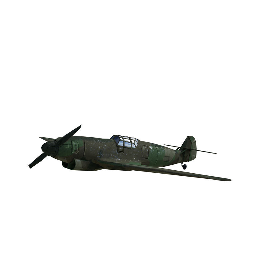 WW2 Fighter Aircraft royalty-free 3d model - Preview no. 3