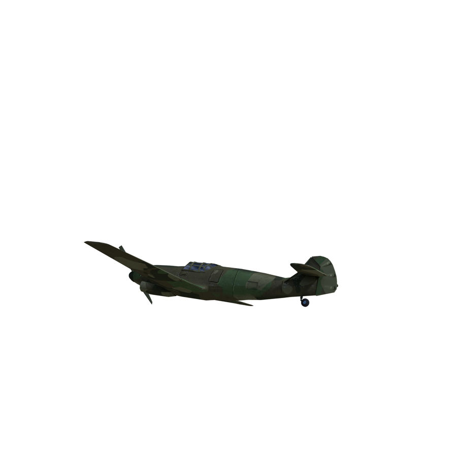 WW2 Fighter Aircraft royalty-free 3d model - Preview no. 5